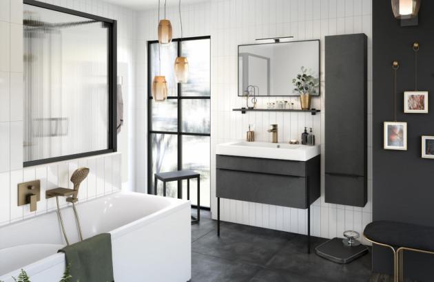 Meuble de salle de bains de qualité Inspiration 90 de Delpha