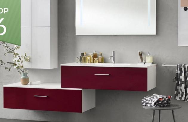 Top meubles rouges pour sublimer la salle de bains
