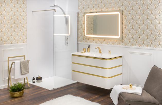 salle de bains retro avec meuble Mont-Blanc Decotec