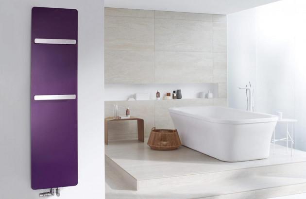 Radiateur horizontal violet