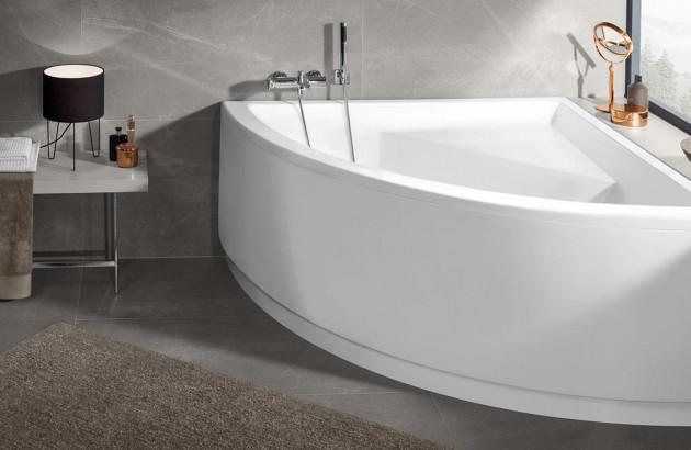 baignoire d angle petite pratique et chic blog espace. Black Bedroom Furniture Sets. Home Design Ideas