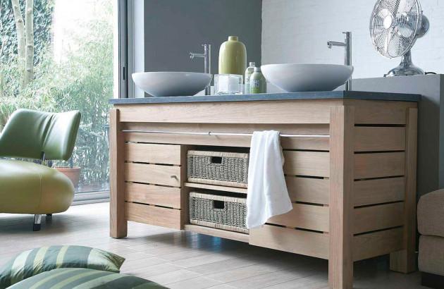 Comment choisir un meuble de salle de bains en bois ...