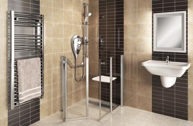 Cabine de douche pour personnes à mobilité réduite