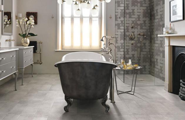 Salle de bains au design vintage