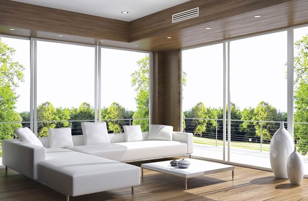 clim gainable dans une pièce à vivre