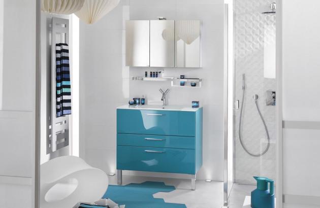 Meuble de salle de bain Delpha bleu