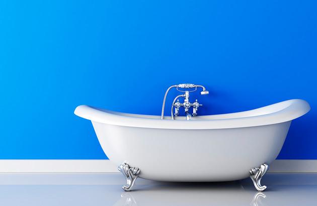 baignoire en îlot fabriquée en fonte