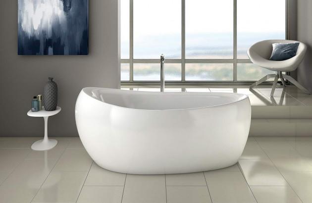 Salle de bain zen avec baignoire îlot | Blog Espace Aubade