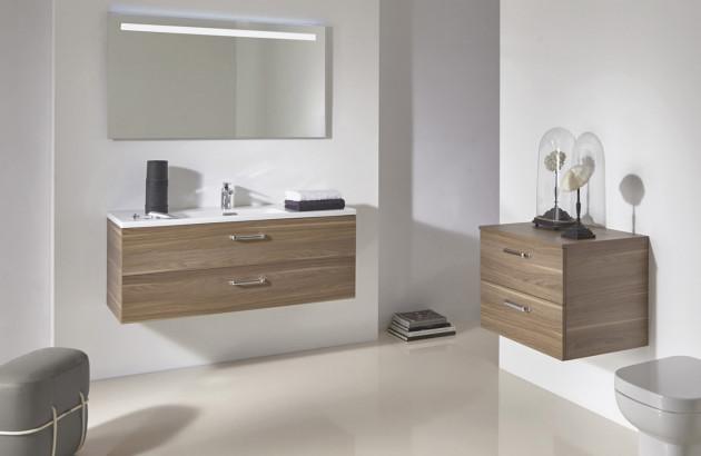 Meubles de salle de bain en matière naturelle