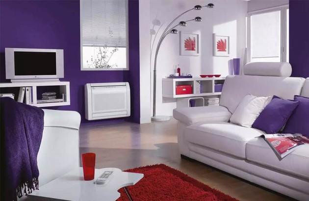 climatiseur réversible monobloc dans le salon
