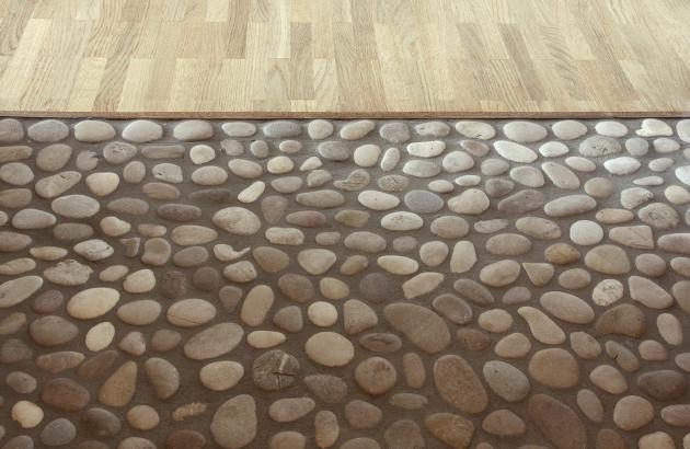 Le carrelage galets pour une salle de bains zen | Espace Aubade