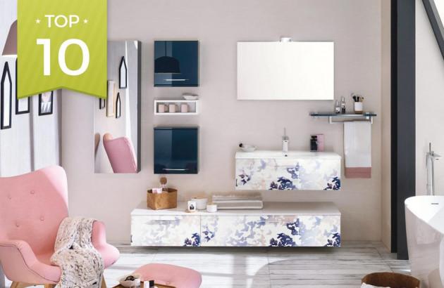 Top 10 meubles colorés pour petite salle de bains | Espace ...