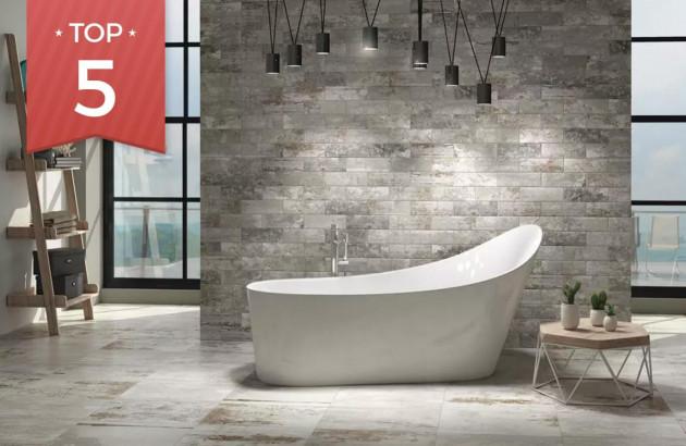 Magnifique carrelage dans une salle de bains suédoise!