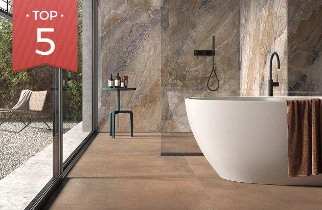 Carrelage Terra de Lafaenza utilisable pour douche à l'italienne