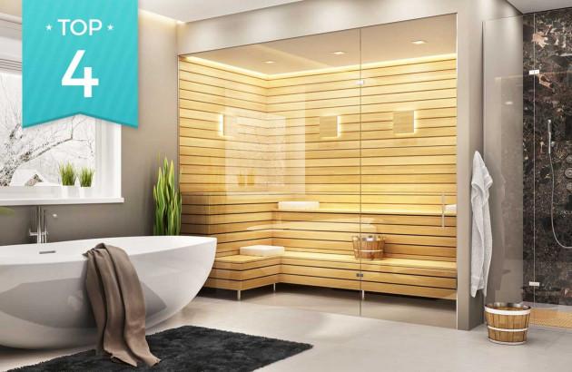 sélection de saunas et hammams pour salle de bain détente