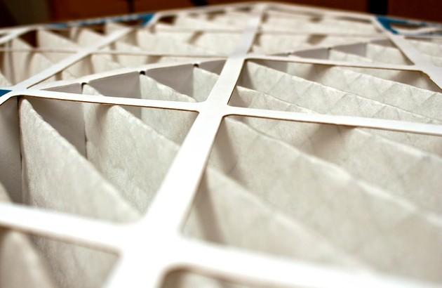super zoom sur un filtre de climatisation