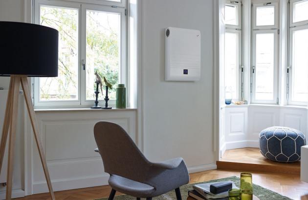 VMC connectée et design dans un salon contemporain