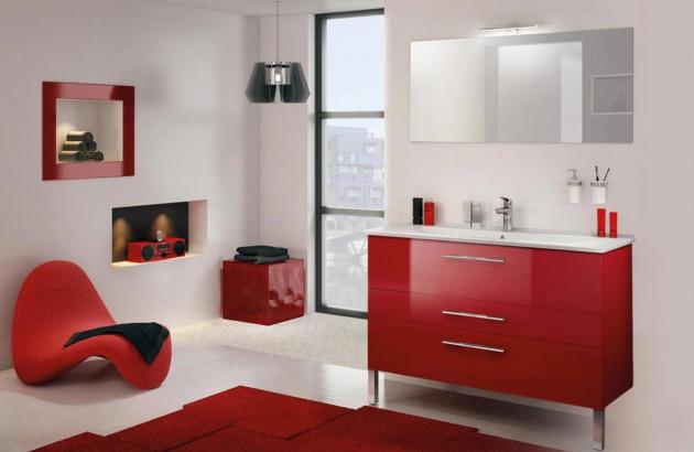 Comment intégrer le rouge dans votre Salle de Bain ? | Espace Aubade