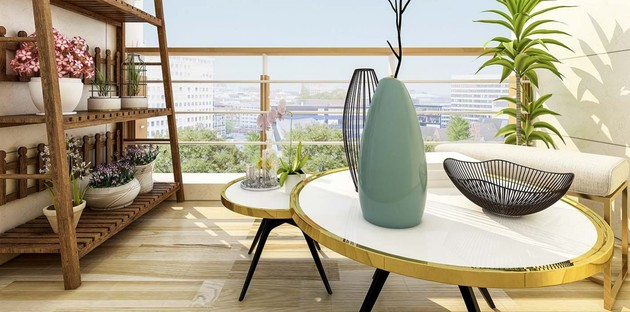 Carrelage imitation bois pour le balcon