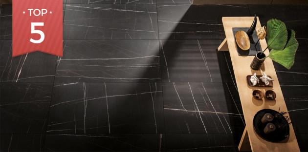 Carrelage effet marbre noir Trex3 de Lafaenza