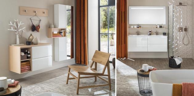 Les meubles bas de salle de bains Unique Pure de Delpha