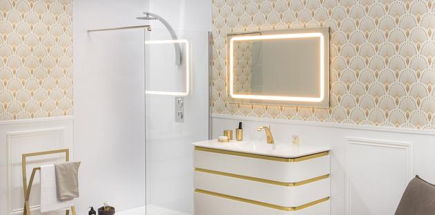 Meuble Mont-Blanc Decotec dans une salle de bains retro