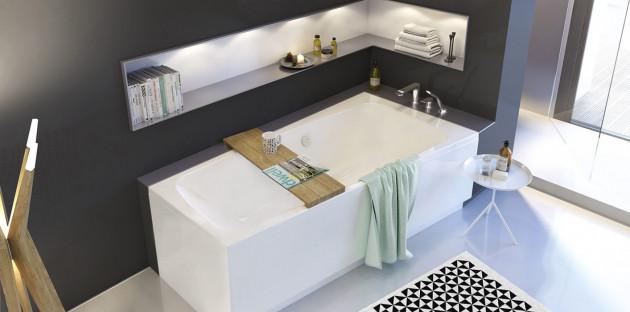 Baignoire et vasque zen: relaxation garantie!