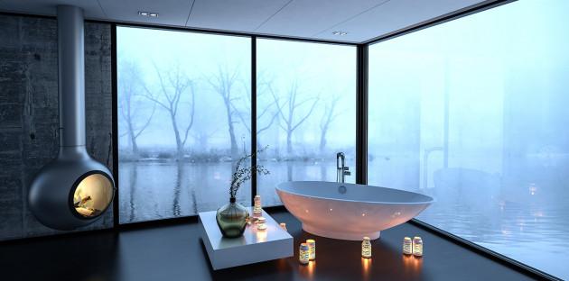 Baignoire îlot: l'incontournable dans une salle de bains spacieuse
