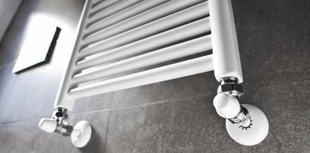 Radiateur vertical blanc