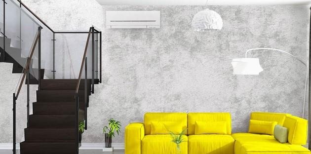 climatiseur mural dans un salon