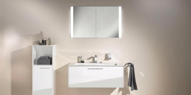 Meubles de salle de bains blancs