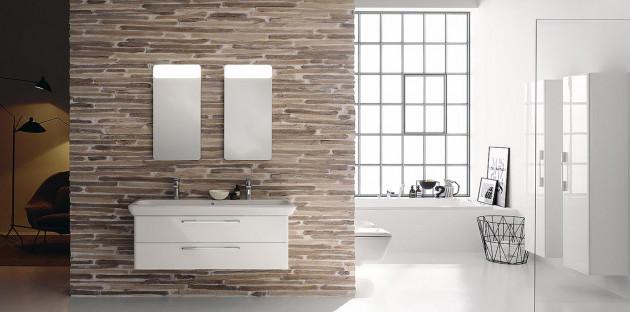 Meuble de salle de bains blanc