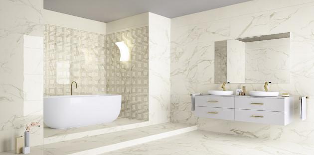Salle de bains dans les tons blancs