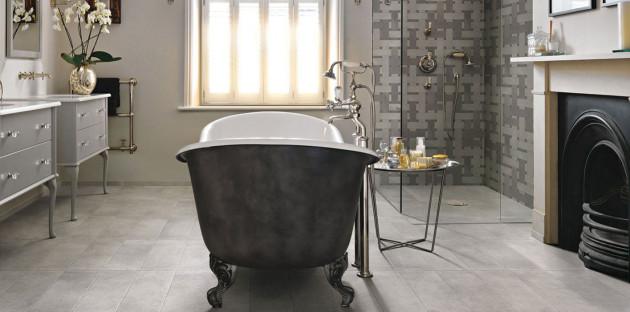 Salle de bains au look vintage