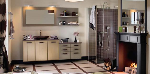 Meubles de salle de bains à tiroirs