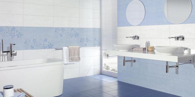 Salle de bains dans les tons bleus