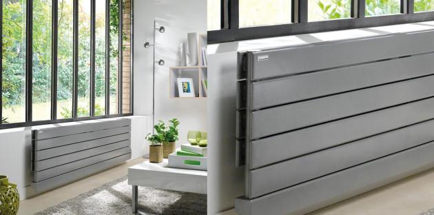 Radiateur horizontal gris