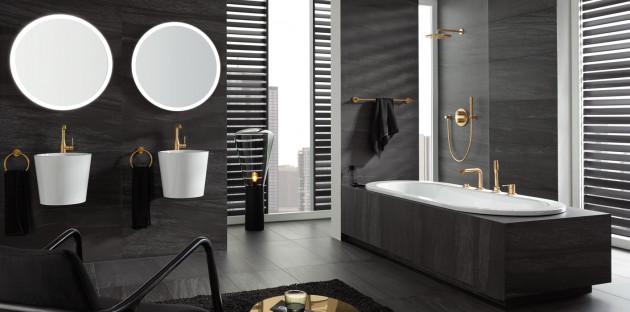 ambiance salle de bains monochrome
