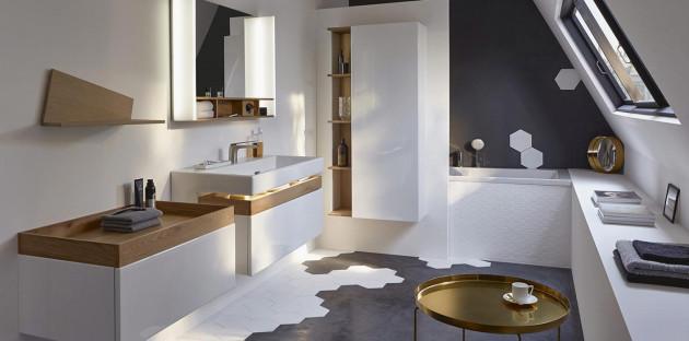 Une salle de bains moderne pour un intérieur tendance