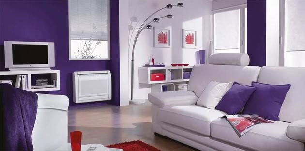 climatiseur reversible monobloc dans la pièce à vivre