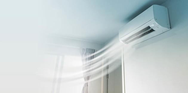 Unité de climatisation murale avec une illustration de son fonctionnement
