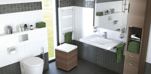 Salle de bains PMR avec WC PMR
