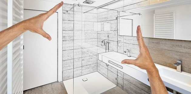 Rénovation de salle de bains croquis installation d'une douche