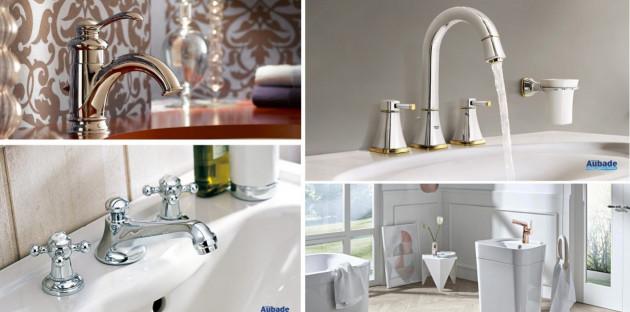 Top robinets parfaits pour une salle de bains classique