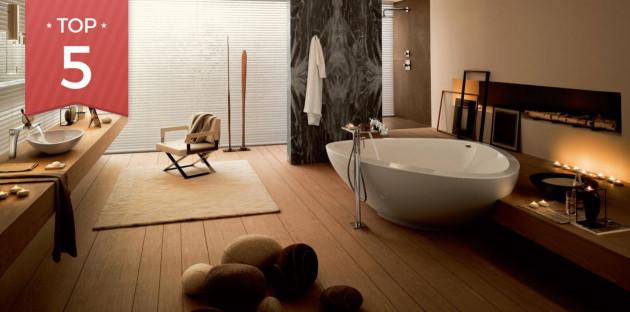 Sélection de baignoires îlot pour parfaire votre salle de bains