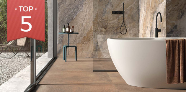 Choisissez le carrelage de sol Terra de la marque Lafaenza pour votre douche à l'italienne