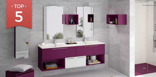 Meuble Delpha finition violette