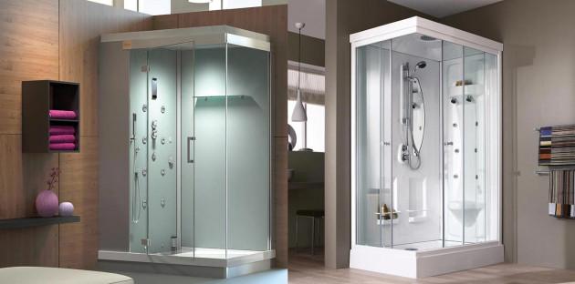 Cabine de douche aux fonctions hammam