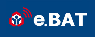 Logo e.bat bleu