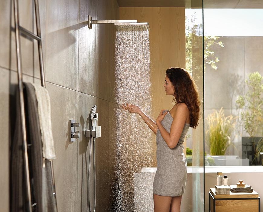 Douche receveur paroi cabine et douche italienne - Aubade carrelage salle de bain ...